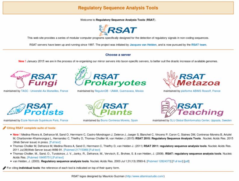 RSAT main web page